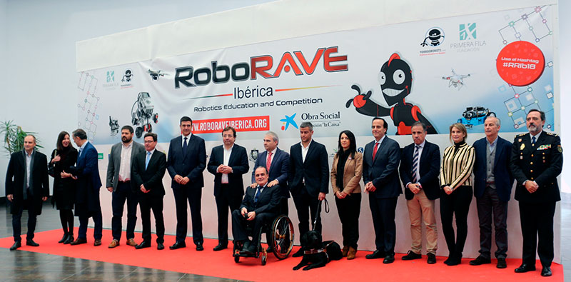 RoboRAVE 2018 se inaugura en la Institución Ferial de Badajoz en un ambiente de diversión y aprendizaje