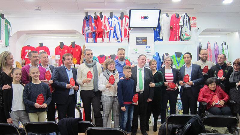 El Museo Extremeño del Deporte de Badajoz entrega su primera edición de los Premios Medgníficos