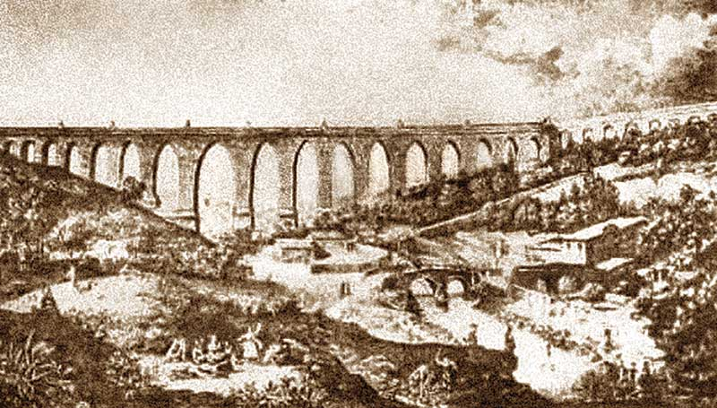 Leonardo Torriano e o Aqueduto de Lisboa. Grada 128. A fronteira
