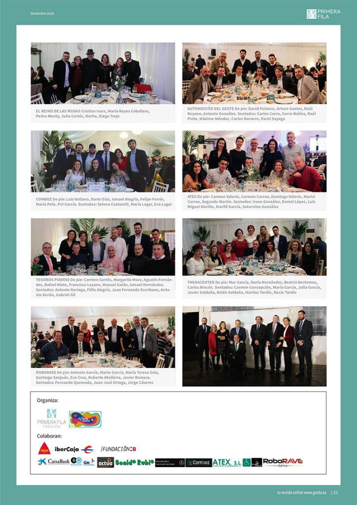 III Cena de empresas solidarias de la Fundación Primera Fila. Grada 129