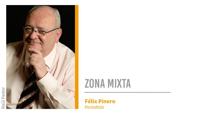 Zona mixta. Grada 129. Félix Pinero