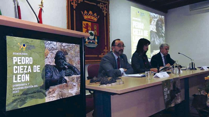 La Fundación Yuste analiza la figura de Pedro Cieza de León en Llerena, su ciudad natal. Grada 129