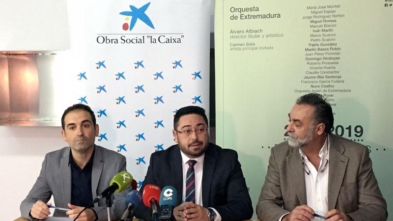 La Orquesta de Extremadura y La Caixa organizan de nuevo un concierto navideño solidario