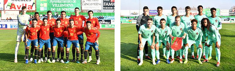 La selección española de fútbol sub18 vence a Portugal en un emocionante partido