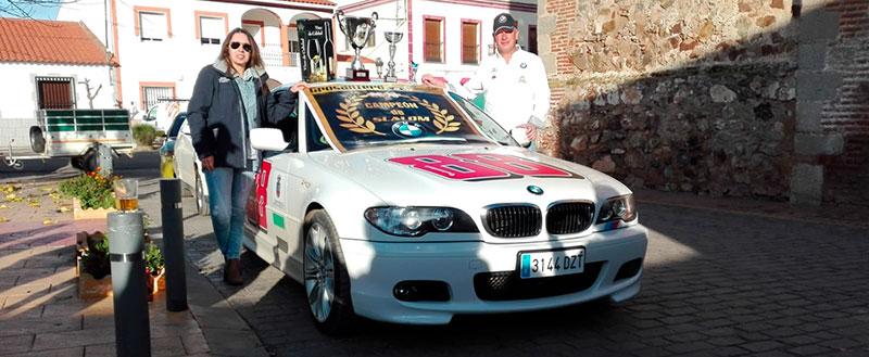 Cristian Carrasco, del Motor Club Almendralejo, gana el rally de La Morera