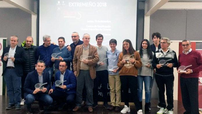 La Federación Extremeña de Tenis celebra en Cáceres su gala anual