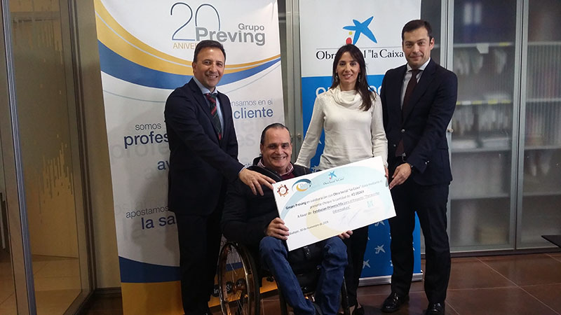 Grupo Preving y La Caixa renuevan su apoyo a 'Theracenter Extremadura', de la Fundación Primera Fila