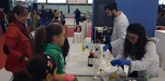 Iberocio amplía su oferta de talleres científicos en 2018. Grada 130. Universidad de Extremadura
