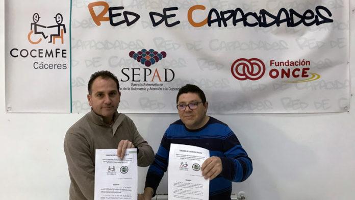 Cocemfe Cáceres y la Asociación Nacional de Futbolchapas de Cáceres renuevan su colaboración