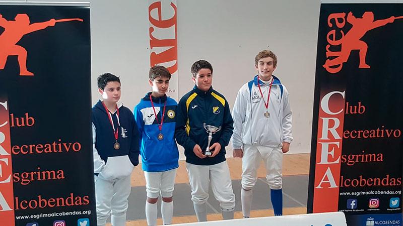 Raúl García consigue una medalla de Plata en el campeonato de esgrima de Alcobendas