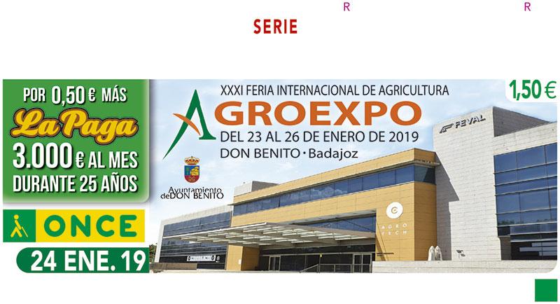 El cupón de la ONCE pone en valor la trigésimo primera edición de Agroexpo, Feria Internacional de Agricultura