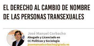 El derecho al cambio de nombre de las personas transexuales. Grada 130. José Manuel Corbacho