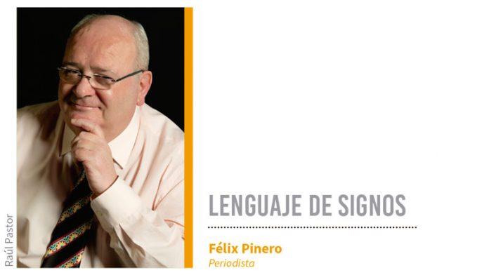 Lenguaje de signos. Grada 131. Félix Pinero