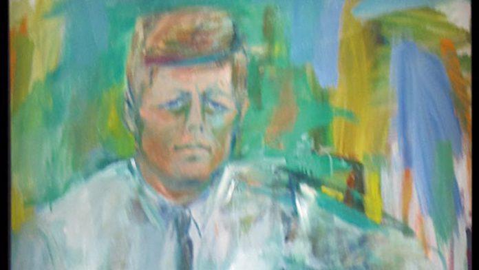 'JFK portrait'. Elaine de Kooning. Grada 131. Arte