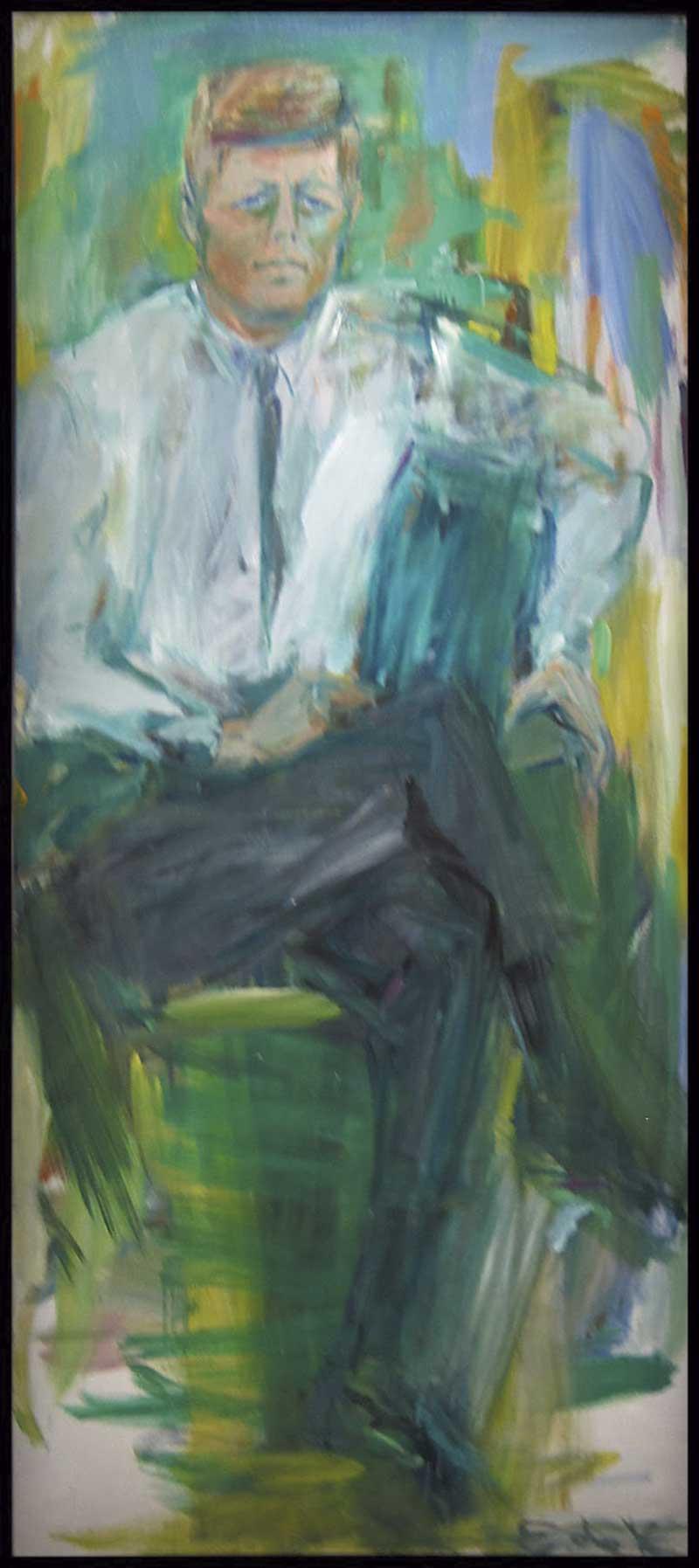'JFK portrait'. Elaine de Kooning. Arte