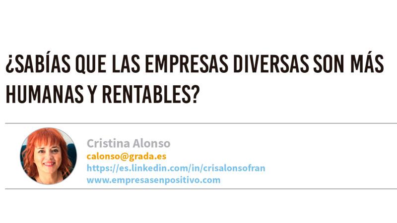 ¿Sabías que las empresas diversas son más humanas y rentables? Grada 131. Cristina Alonso