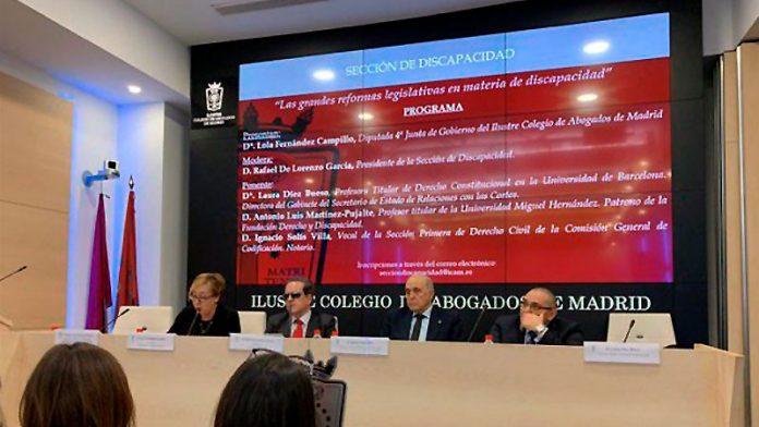 El Colegio de Abogados de Madrid cuenta con una sección dedicada a las personas con dispacacidad