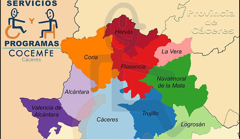 Cocemfe ha prestado asistencia sociosanitaria domiciliaria a 50 personas con discapacidad de la provincia de Cáceres