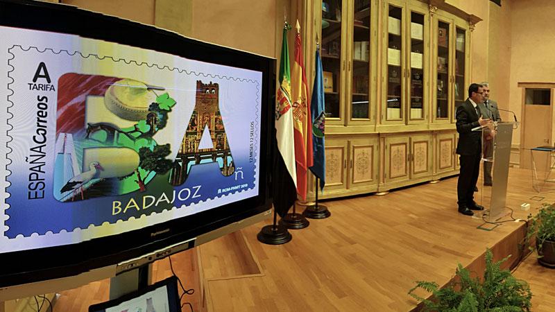Correos emite un sello dedicado a la provincia de Badajoz