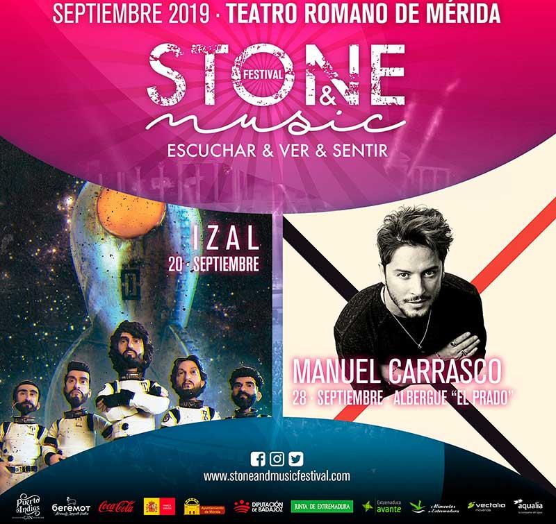 Izal y Manuel Carrasco se suman al cartel del festival 'Stone & Music 2019' de Mérida