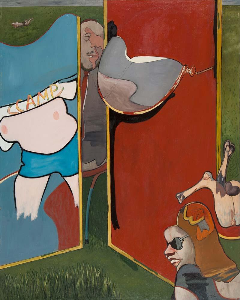 El Museo de Bellas Artes de Badajoz adquiere la obra 'Mundo lúdico', de Juan Barjola