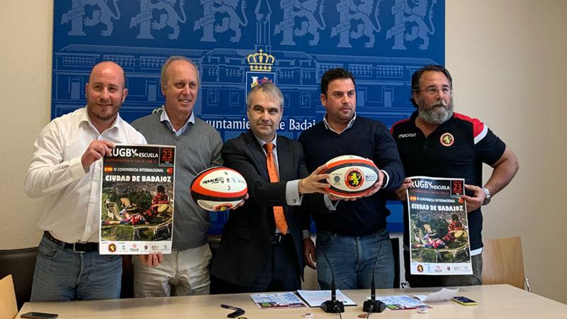 Una convivencia internacional de rugby reunirá en Badajoz el sábado a más de 700 jóvenes