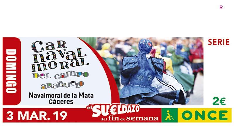 El cupón de la ONCE rinde homenaje al Carnaval de Campo Arañuelo