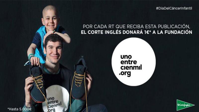 El Corte Inglés colabora con Unoentrecienmil para ayudar a los niños con cáncer