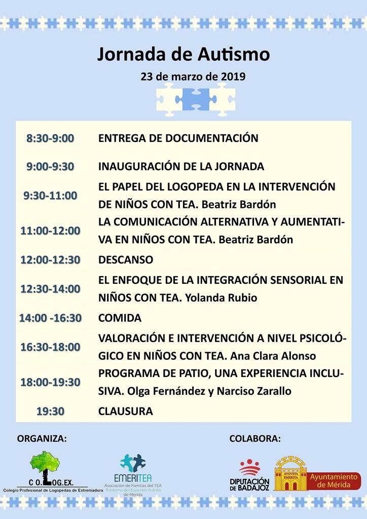 El Colegio de Logopedas de Extremadura y Emeritea organizan una jornada sobre autismo