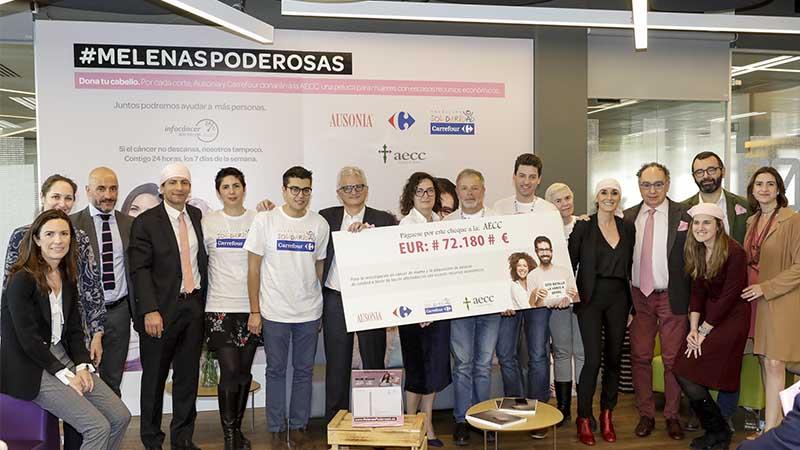 Carrefour y Ausonia donan 72.180 euros destinados a la lucha contra el cáncer de mama