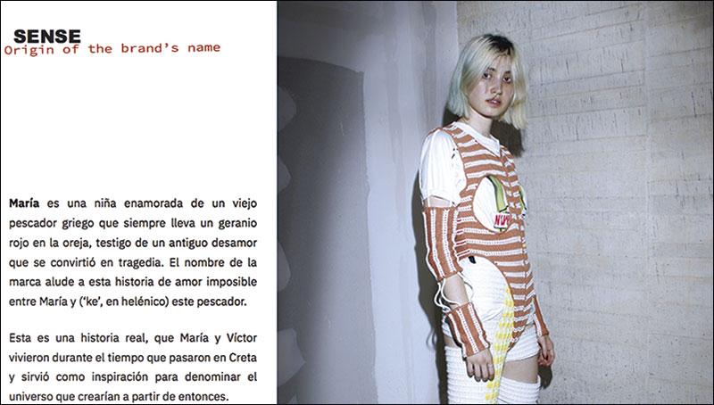 María Lemus. 'María Ke Fisherman'. Moda. Vanguardia. Tradición. Grada 132. Perfil