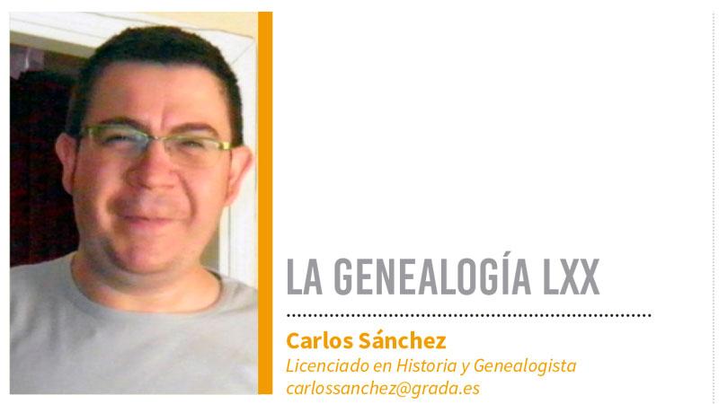 Genealogía LXX. Grada 132. Carlos Sánchez