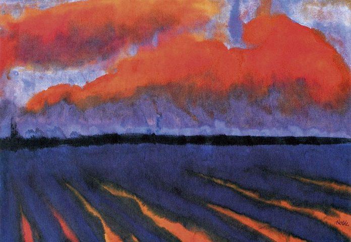 'Evening landscape North Frisia', de Emil Nolde. Grada 132. Arte