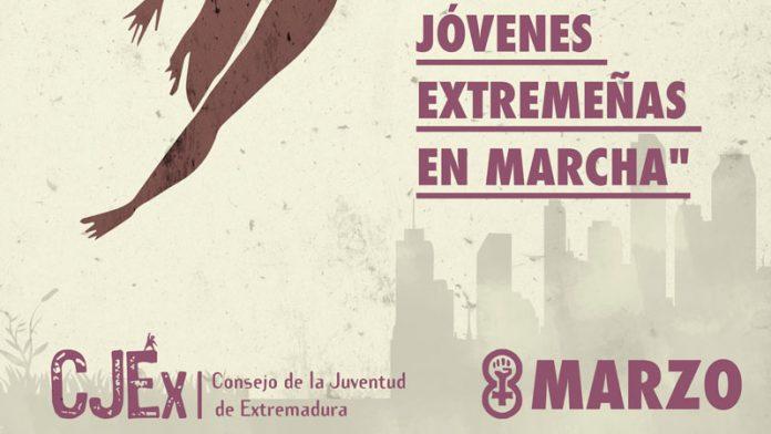 Jóvenes extremeñas en marcha. Grada 132. Consejo de la Juventud de Extremadura