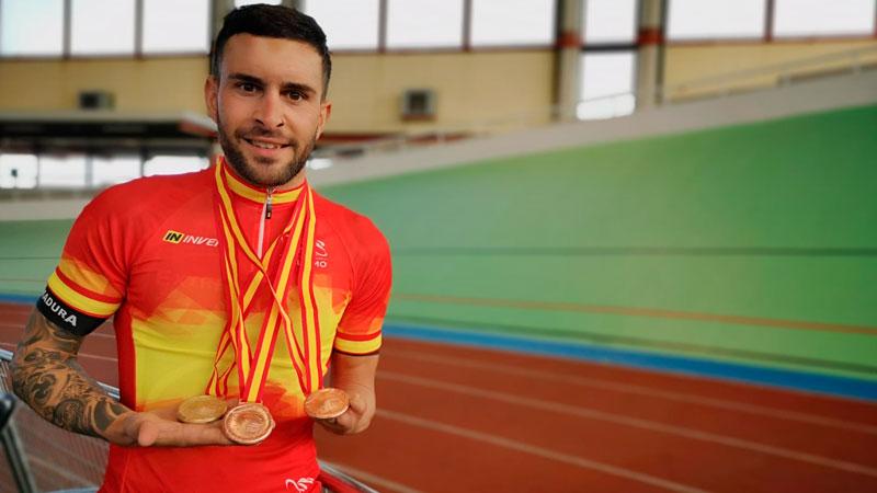 Rubén Tanco se proclama campeón de España de ciclismo adaptado en la modalidad de Scracth