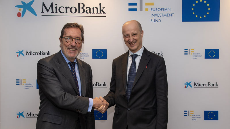 MicroBank y el Fondo Europeo de Inversiones (FEI) acuerdan un plan de inversión para empresas sociales