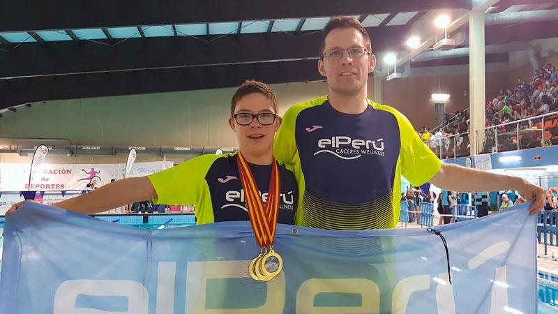 Guillermo García consigue cinco medallas de oro en el Campeonato de España de natación de la Feddi