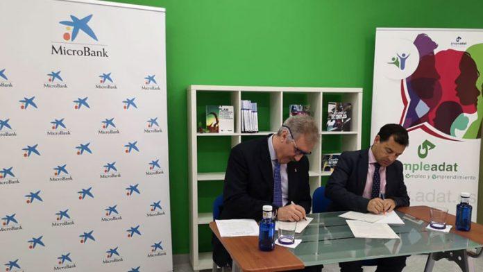 El Grupo ADAT y MicroBank fomentarán la inserción sociolaboral en Extremadura