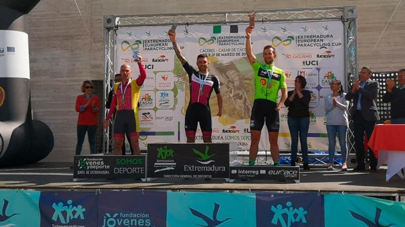 Rubén Tanco consigue dos medallas de oro en la Extremadura European Paracylcling Cup celebrada en Cáceres