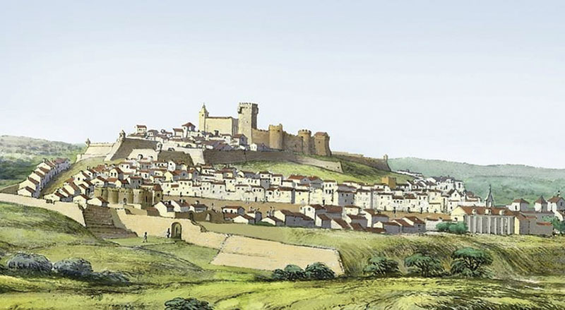 O caminho de Elvas a Arraiolos, no final do séc. XVII. Grada 132. A fronteira