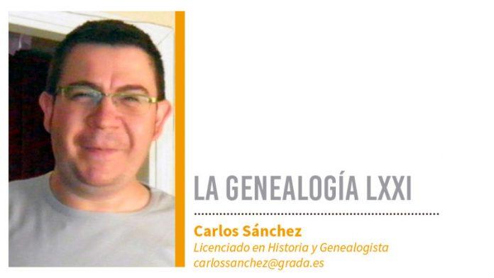 Genealogía LXXI. Grada 133. Carlos Sánchez