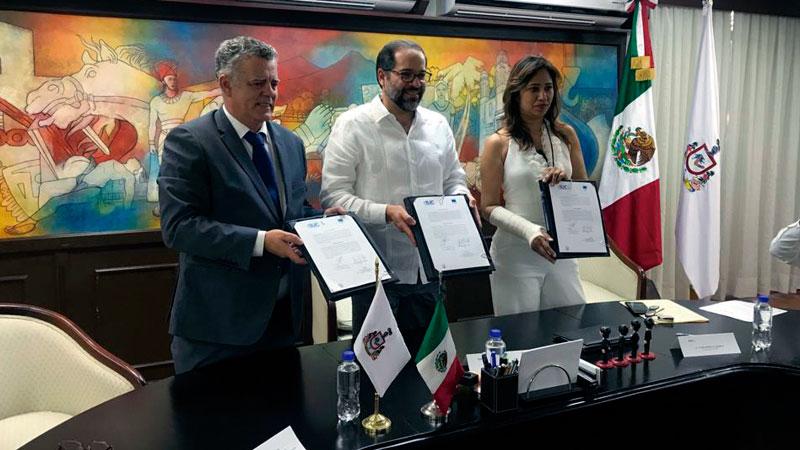 Extremadura y el Estado mexicano de Colima firman un acuerdo de colaboración en materia de innovación. Grada 133. Fundecyt-Pctex