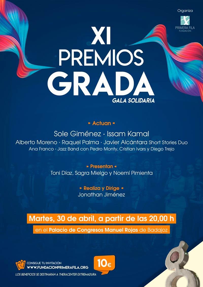 XI Premios Grada. Martes 30 de abril. Palacio de Congresos de Badajoz. Grada 133