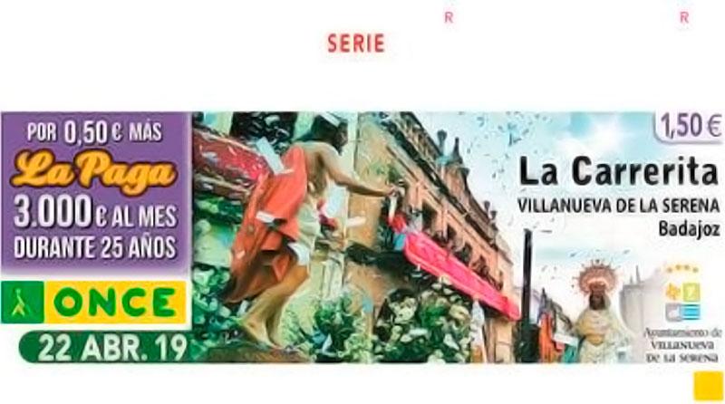 El cupón de la ONCE de mañana rinde homenaje a 'La Carrerita' de Villanueva de la Serena