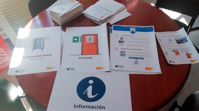 La accesibilidad cognitiva estará presente en todos los colegios electorales de Extremadura en la cita del próximo domingo