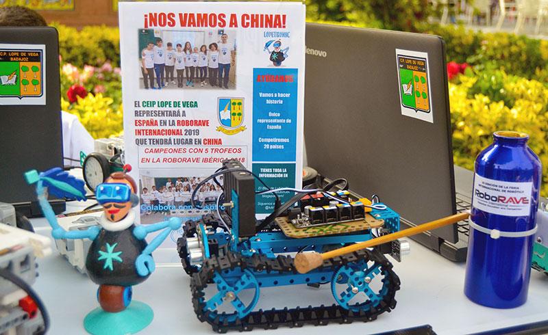 El colegio Lope de Vega de Badajoz representará a España en RoboRAVE International, que se celebra en China