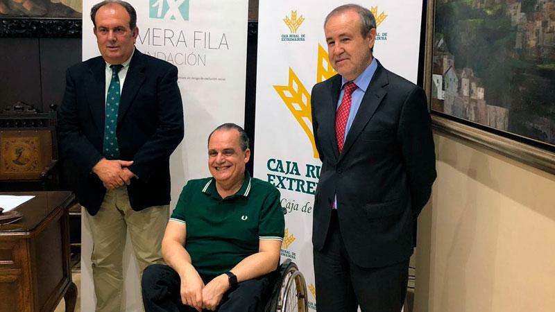 Caja Rural de Extremadura y la Fundación Primera Fila promoverán acciones de inclusión social