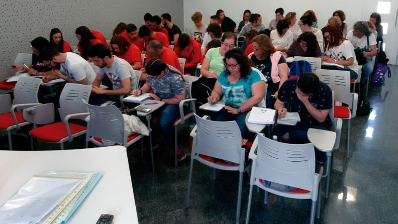Alumnos de escuelas colaborativas rurales reciben formación en prevención de riesgos laborales. Grada 135. Fempex