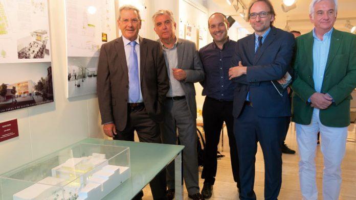 Los arquitectos Ángel Ganivet y Carlos Sánchez explican cómo será la nueva sede social y centro cultural de Fundación CB. Grada 135