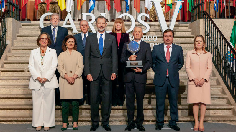 El Rey Felipe VI entrega el Premio Europeo Carlos V. Grada 135. Fundación Yuste